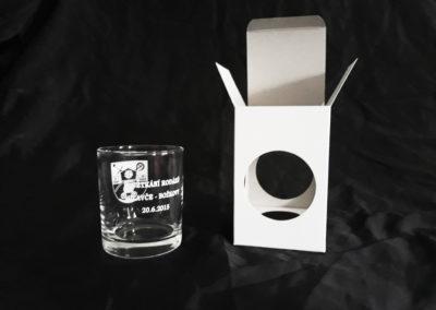 dárková krabička na sklenici