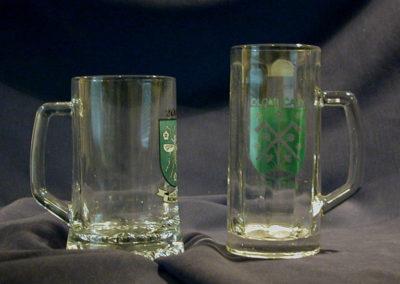 Pivní sklo - krygle s obecním znakem