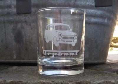 sklenice piskovani trabant