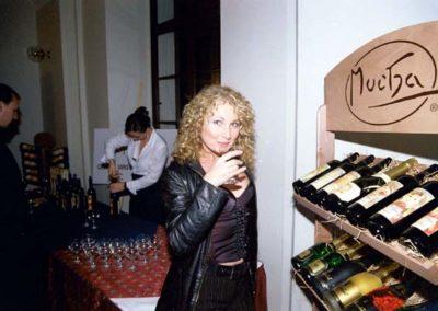 reklamní stojan vino
