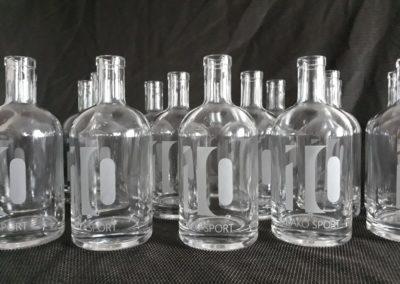 firemni darkove lahve s piskovanim